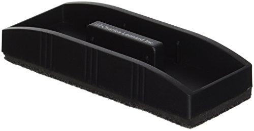 Charles Leonard Magnetic Whiteboard Eraser, 1 per Box, Black, 1 Box -