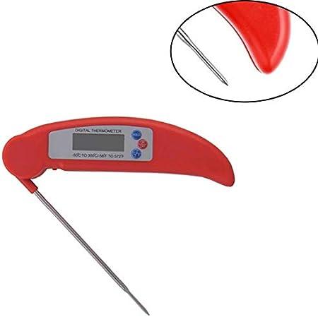 Función plegable sonda del termómetro instantáneo multi cocina barbacoa termómetro digital termómetro de lectura portátil cocina casera de accesorios de fuego rojo Barbacoa
