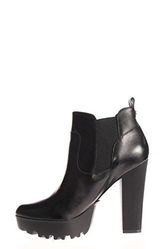 Übergröße: GUESS, Damen, Stiefelette Cammila Leather, Mehrfarbig Schwarz