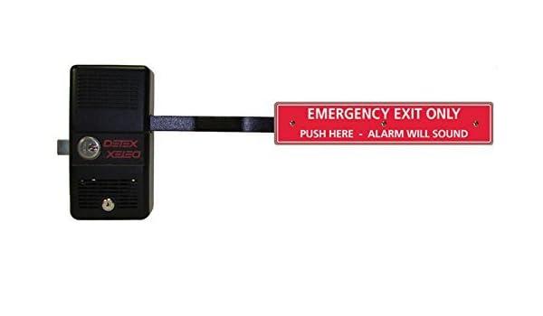 Detex Barra de control de salida de pánico alarma de bloqueo, largo: Amazon.es: Amazon.es