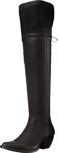 Frye Kvinna Sacha Over-the-knee Oilnu Western Boot Svart Mjuk Antik Dra Upp