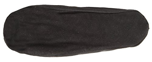 BRUBAKER Men's and Women Slippers - Real Leather With Warm Fluffy Fun Fur Lining - Black Suede Size 8 / EU 42 wEHC6FUXc