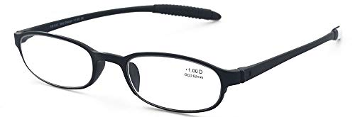 Lightweight Reading Glasses,Flexible(Memory Plastic) Readers, Men and Women by Mcoorn