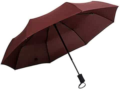 Wind Resistant Folding Automatic Umbrella Rain,Women Double Layer Inverted Umbrellas Frame Parasol UV Protection