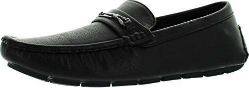 Js Awake Mens Tony-03 Slip On Mocassini Casual Mocassini Neri Owen2