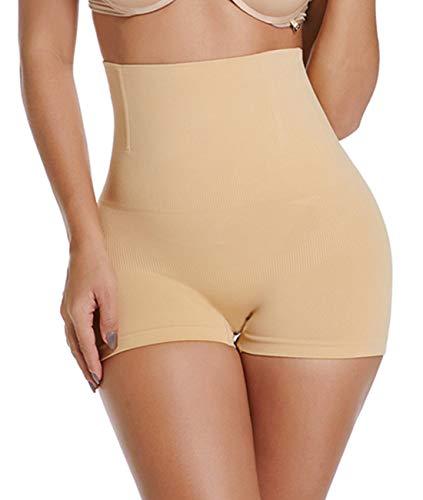 - SURE YOU LIKE Women's Shapewear Tummy Control High Waist Body Shaper Butt Lifter Shorts Seamless Slimmer Panties Beige