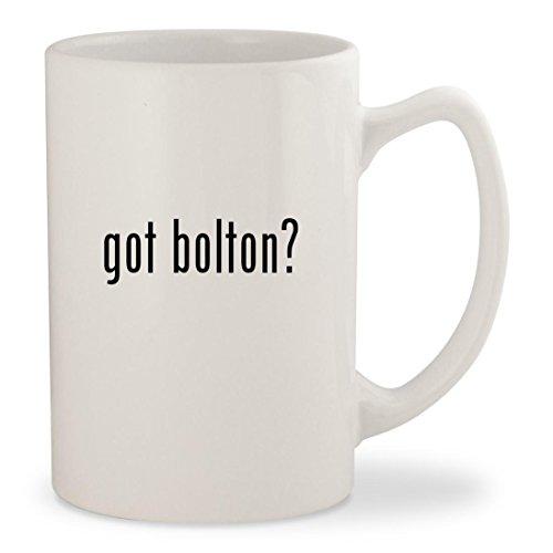 got bolton? - White 14oz Ceramic Statesman Coffee Mug Cup - Gwyneth Doll