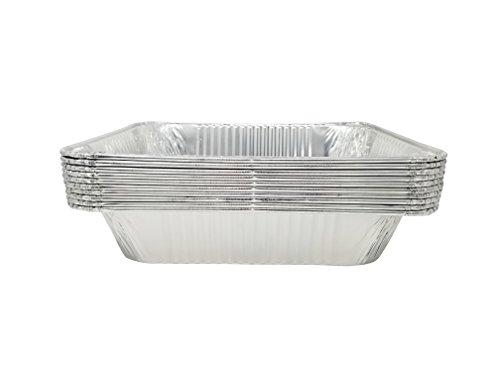 Best Choice Extra heavy Disposable Aluminum foil pans, (10 Pack) 9x13 pans, half size deep, 12.75