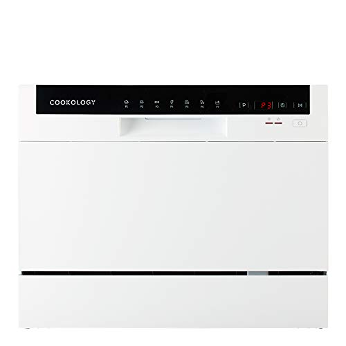 Cookology CTTD6WH White Mini Counter top, Tabletop Dishwasher, 6 place settings