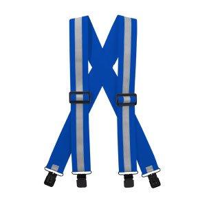 Reflective Suspenders-Royal Blue