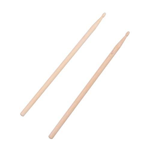 Pixnor Pair of Heavy Wooden 2B Drum Sticks