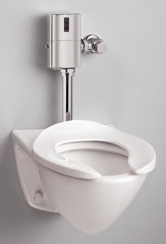 Spud Inlet - Toto CT708EGNo.01 Commercial Flushometer High Efficiency Toilet-1.28-GPF, Top Inlet Spud, Cotton