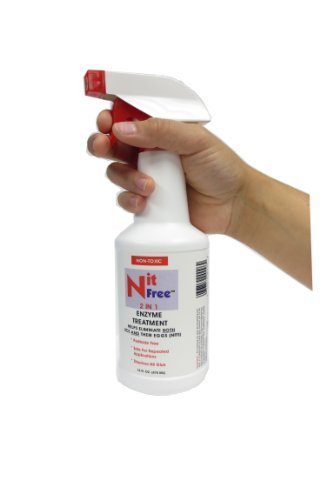 Nit Free Lice and Nit Eliminating Spray and Nit Glue Dissolver (16-Ounce)