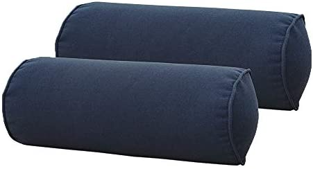 SewKer Indoor/Outdoor Round Bolster Pillow,Corded