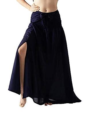 Bangkokpants Women's Long Hippie Bohemian Skirt Gypsy Maxi Skirt Party Dress Bow Tie Waist Premium Rayon