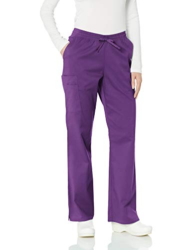Amazon Essentials Women's Quick-Dry Stretch Scrub Pant, Eggplant, X-Small (Best Quick Dry Pants)