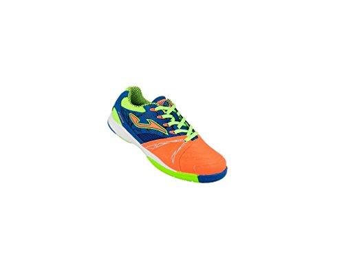 Joma Dribling JR 708 - Zapatillas de fútbol sala, Niño, Naranja / Azul / Verde, 35
