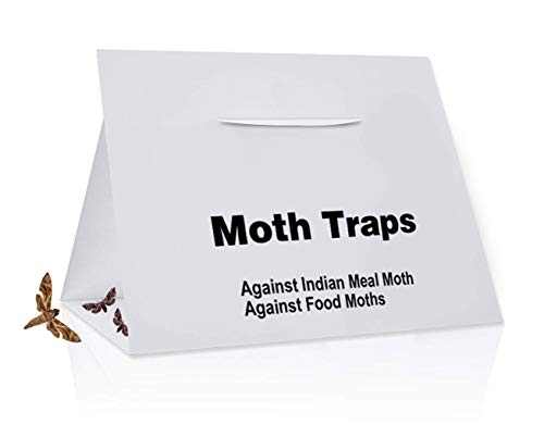 Naomo Pantry Moth Traps with Attractant, Moth Traps for Closet Clothing & Carpet Moth Traps, Non-Toxic, Safe, No Insecticides (8 Pack White)