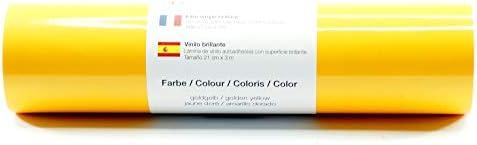 Lámina de plotter autoadhesiva lámina de vinilo 21 cm x 3 m brillo 39 colores a elegir, Glänzend L-Serie:Amarillo Dorado: Amazon.es: Hogar