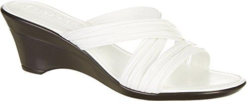 White Italian Shoes (ITALIAN Shoemakers Womens Cruise Wedge Sandals 10 White)