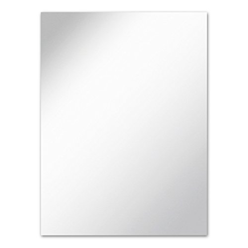 Frameless Rectangle Wall Mirror with Polished Edge | 24-inch x 36-inch | Bathroom, Vanity, Bedroom Rectangular Mirror - Rectangular Bathroom Wall