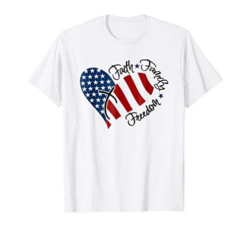Freedom Womens Dark T-shirt - Faith Family Freedom America T Shirt