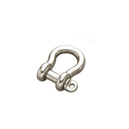 5mm STAINLESS STEEL 316 (A4) Bow shackle Pack Size : 2 Generic