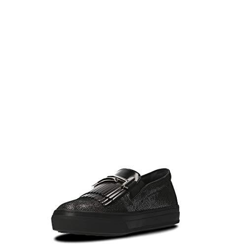 Skate De Cuir Xxw0xk0v020hgq0zhc Tod's Chaussures Femme Noir Wpfxz8q