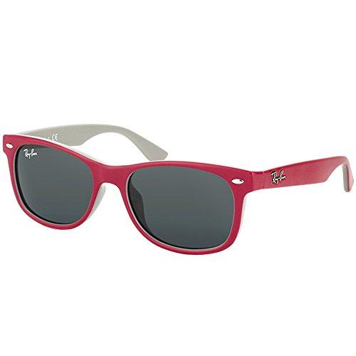 (Ray-Ban JUNIOR RJ9052S RJ9052SF Sunglasses 177/87-50 - Topaz Red/Fuxia On Gray Frame, Grey)