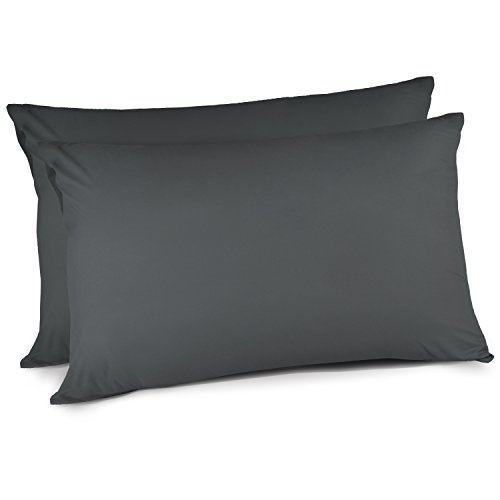 Adoric Life Pillow Cases, Pillowcases Queen Size (20x30) Set of 2, Wrinkle Stain Fade Free Comfortable Pillow Covers, with Envelope Closure End Black