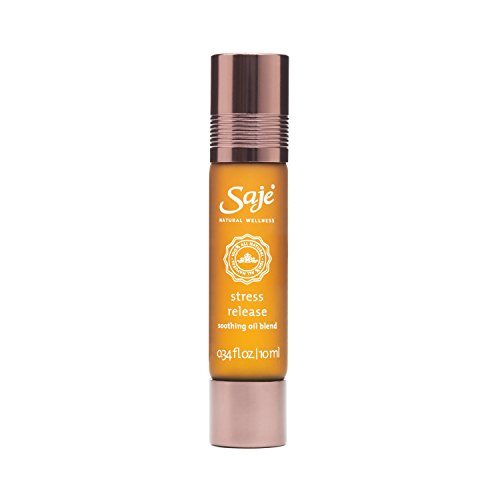Saje Stress Release Essential Oil Blend, Calms and Soothes Worries, Roll-On Application, 100% Natural (0.34 fl - Soothe Wellness Oil