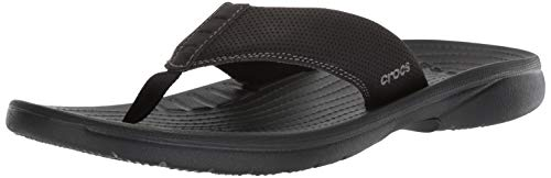 Crocs Men's Bogota Flip Flop, Black, 13 M US ()