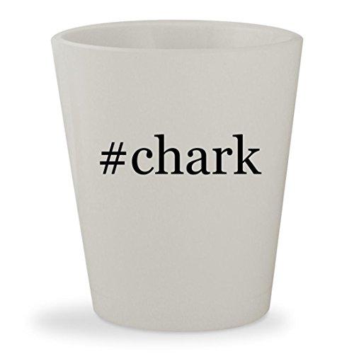 #chark - White Hashtag Ceramic 1.5oz Shot Glass (White Chark)