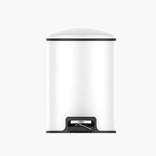 POIUY 蓋付きのベッドルームバスルームキッチンリビングルームのペダルことができます家庭用ゴミ箱 (Size : 8L)