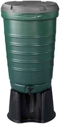 Straight Plc Be Green - Depósito de captación de Agua de Lluvia (190 l, Incluye Tapa/Soporte/Grifo): Amazon.es: Jardín