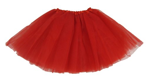 [Red Dance or Ballet Tutu, One Size] (Red Tutu Kids)