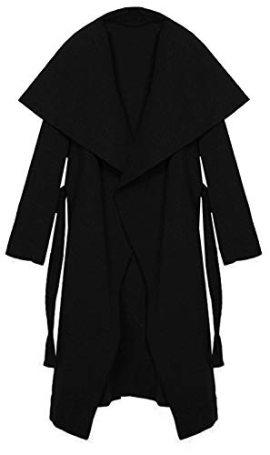 One et Noir Femme Collection court Kendindza Long Manteaux Size Trenchcoat long 1HpIOwq0x