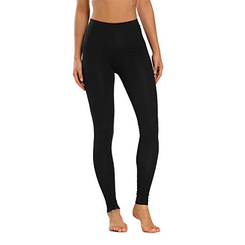 Houmous Women's High Waist Full-Length Yoga Pants Workout Pants 4 Way Stretch Leggings(Black,M)