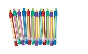 Colorful Striped Eraser Sticks (1 dozen) Eraser Stick