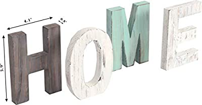 MEANT2TOBE Rustic Wood Home & Love Signs Home Décor |Freestanding Wooden Letters Cutouts for Home Décor|Multi-Color Wooden Signs |Decorative Word Signs|Multicolor Table Decor Centerpiece|