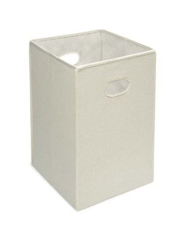 Badger Basket Folding Hamper and Storage Bin, Ecru