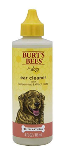 Burt's Bees for Dogs Natural Ear Cleaner with Peppermint and Witch Hazel   Solution for Dogs Or Puppies, 4oz