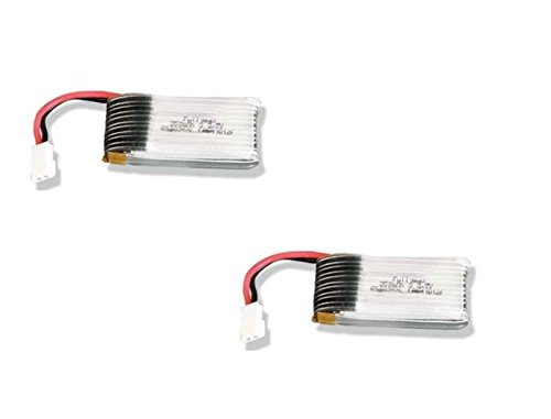 HobbyFlip 3.7v 350mAh 25c Lipo Battery Pack Compatible with X-Drone Nano H107R 2 Pack (Xdrone Nano Battery)