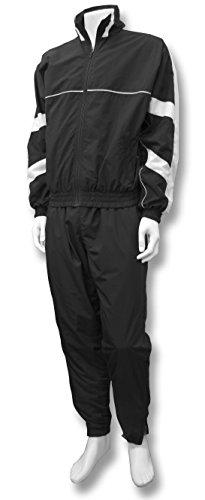 Code Four Athletics 'Firenzi' jacket/pant warm-up set - size Adult L - color Black/White