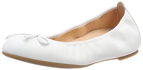 White Ballerinas ri Weiß Damen Geschlossene 18 Unisa Acor qHwX07n