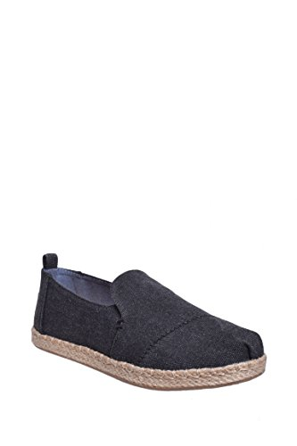 TOMS New Deconstructed Alpargata Black Washed Canvas 7.5 Womens Shoes