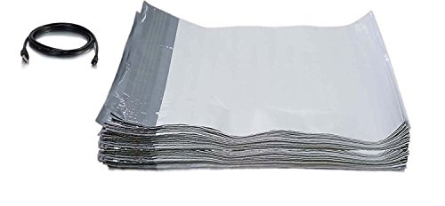 200 - 14.5x19 POLY MAILERS ENVELOPES SHIPPING BAGS 14.5 x 19 + free USB Cable (Value pack) (Cable Bag Poly)