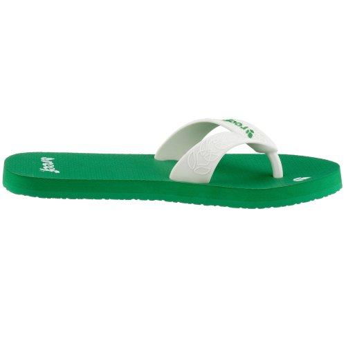 Reef - Informal mujer Verde - verde/blanco