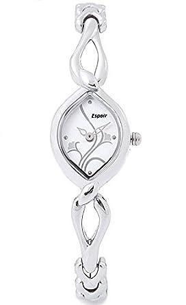 Espoir Floral Analog White Dial Women's Watch - 2455