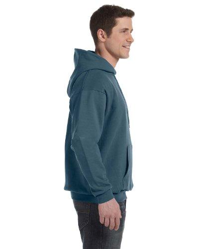 mart Hooded Sweatshirt Large 1 Cardinal + 1 Denim Blue ()